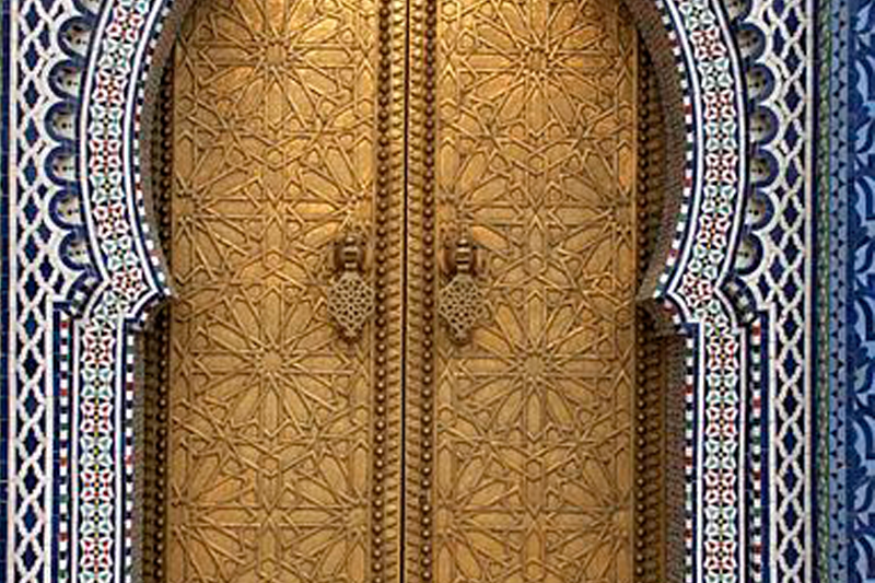 ROYAL PALACE DOOR FEZ - TOURS OF MOROCCO